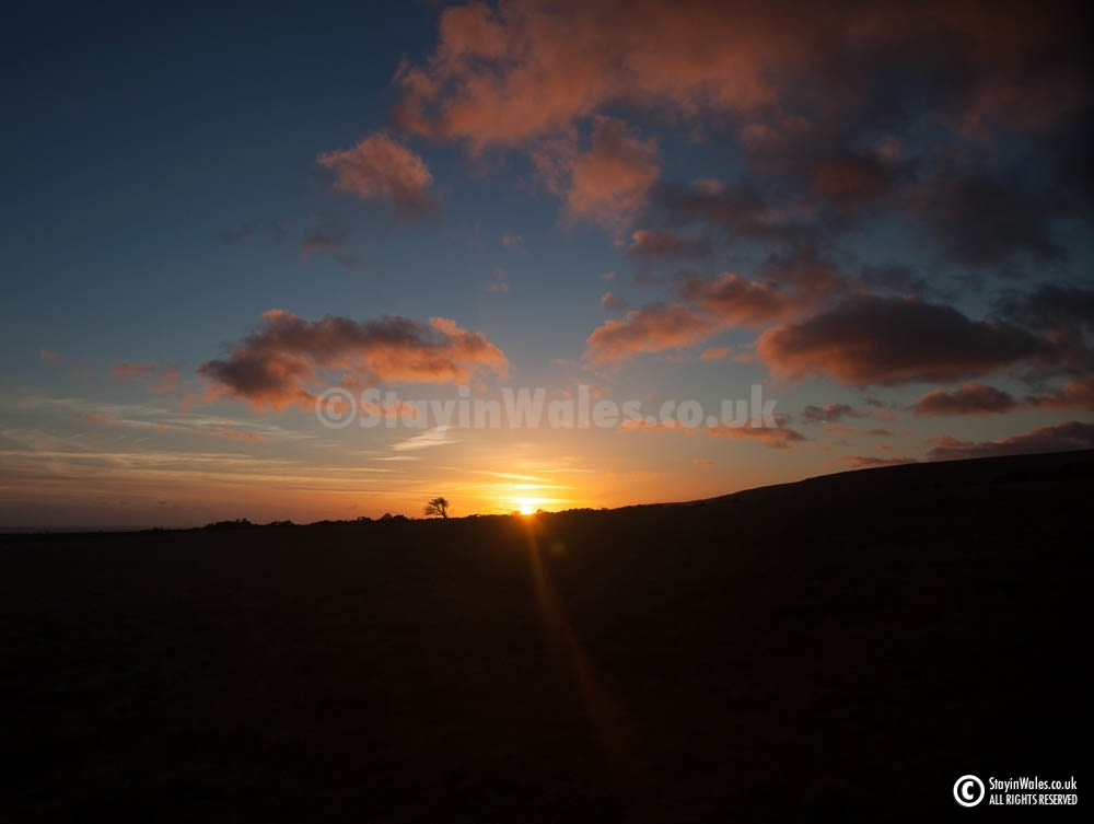 Preselis sunset from Carn Menyn