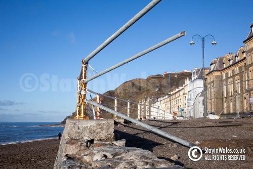 Storm damage at Aberystwyth