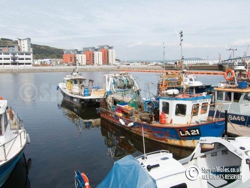 Fishing boats at Swansea