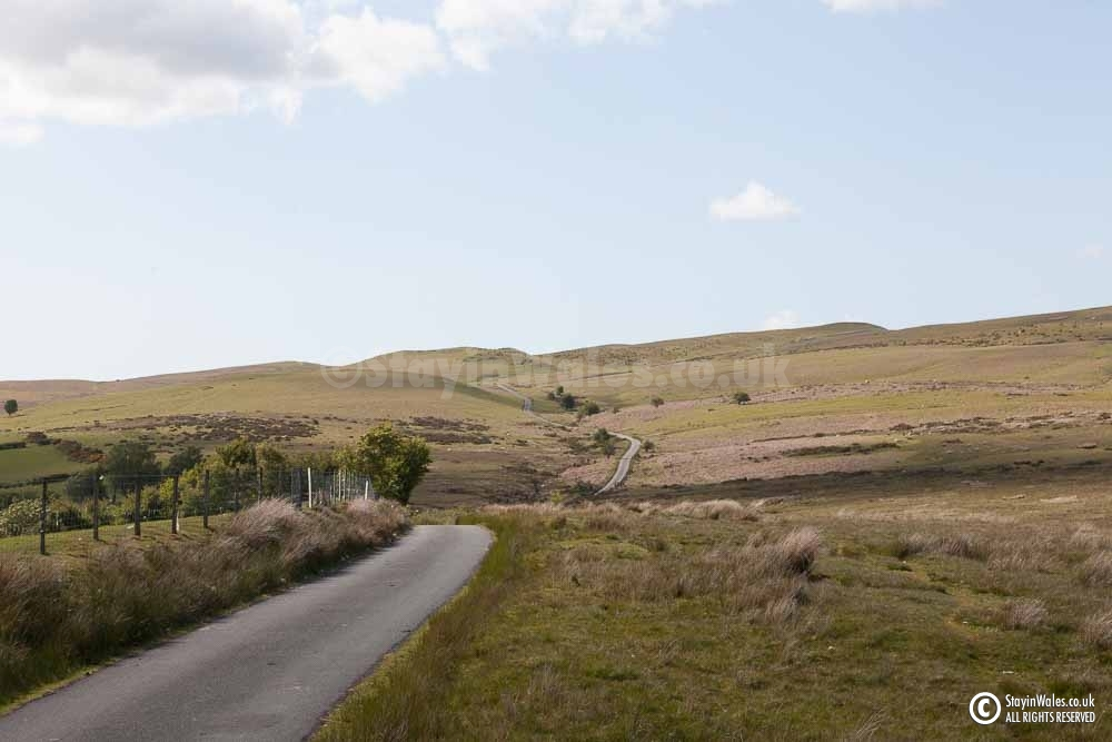 Road across Pant-y-Llyn