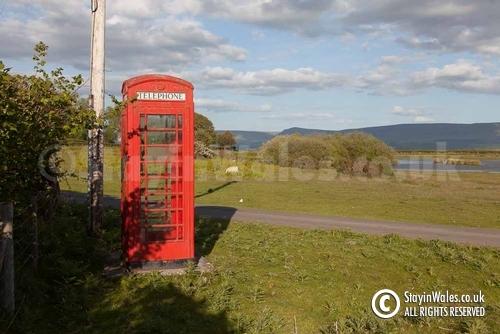 Mid Wales phone box